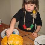 Resterne af blomkålssalaten - den skål blev slikket!