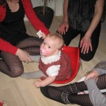 Karen i sin første julegave