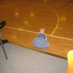 Karen på gulvet