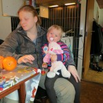 En træt Karen med Vuf og tante Anne