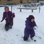 Sneboldkamp i midten af marts...