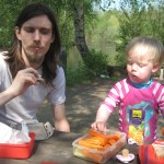 Vi havde madpakker med i Doktorparken