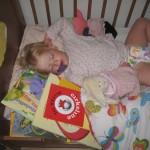 I går aftes - knap plads til barnet for bøger