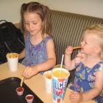 Frokost - ungerne kunne ikke fordrage Icee