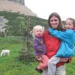 Familien og en bjergged