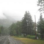 Bears Hump dækket af skyer