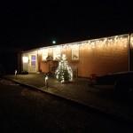 Så er alt julelyset kommet op