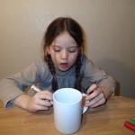 Far ønskede sig kaffekrus, så det lavede vi mens han var til julefrokost